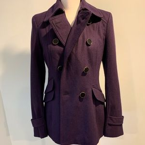 Express Pea Coat -size S purple color new with tag